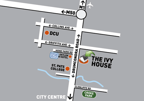 Map of Ivy House location
